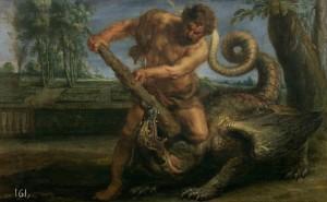 11-rubens-Hércules matando al dragón del jardín de las Hesperídes-1635-1640