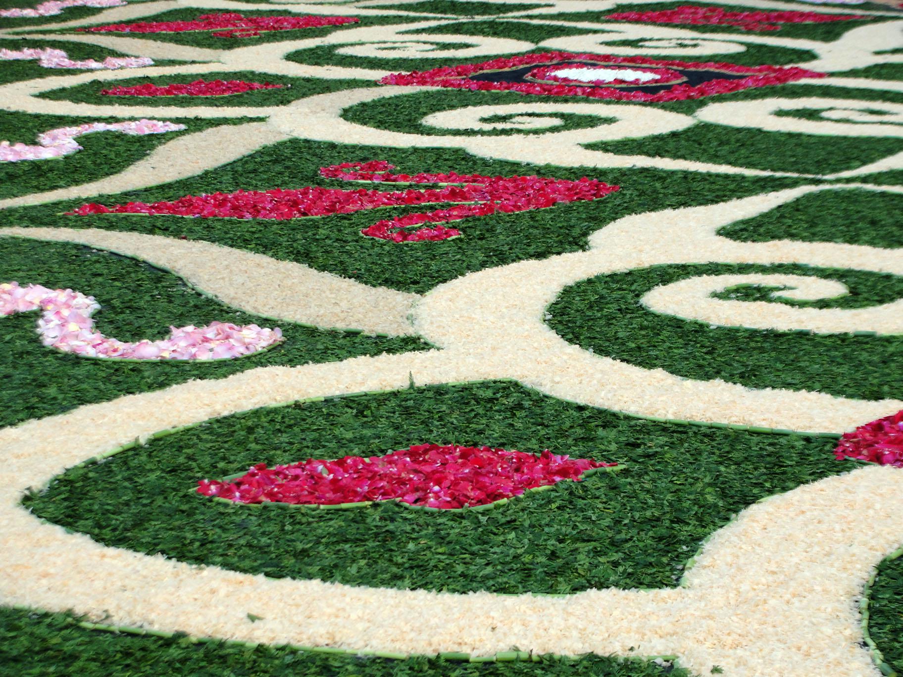 Alfombras florales de ponteareas galiciangarden - Alfombras dibujos geometricos ...