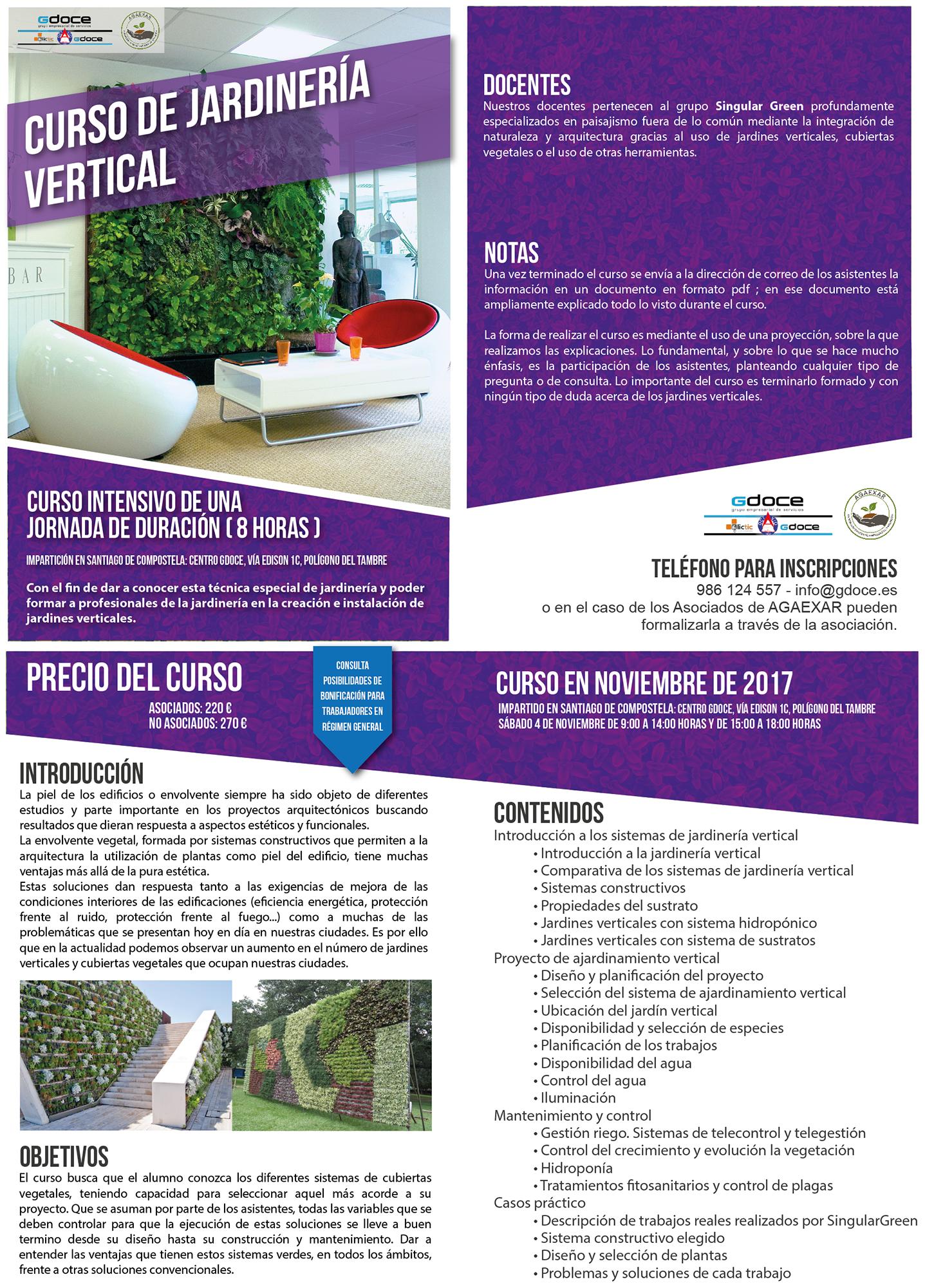 Curso de jardiner a vertical galiciangarden for Curso de jardineria
